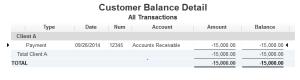 Customer Balance