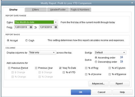 Modify a report before it runs (QB2015)
