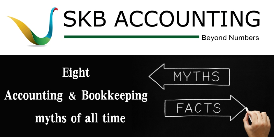 Eight Accounting and Bookkeeping  myths of all time