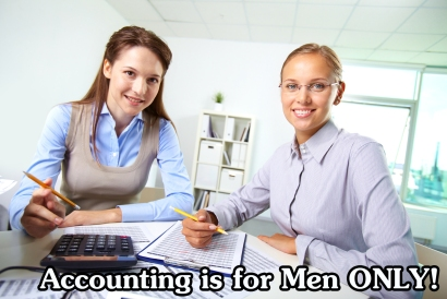 Portrait of happy female colleagues accounting in office